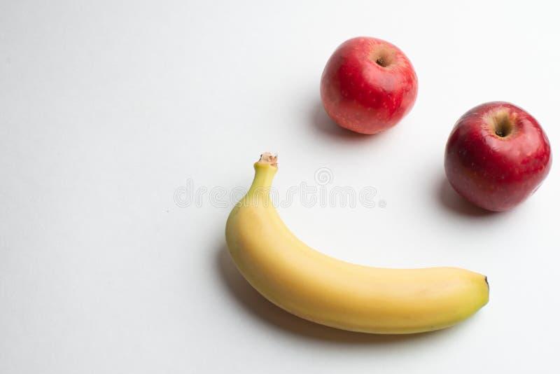 Frutas para la salud, la manzana de las frutas frescas, de la fruta de la aptitud, roja y amarilla fotografía de archivo