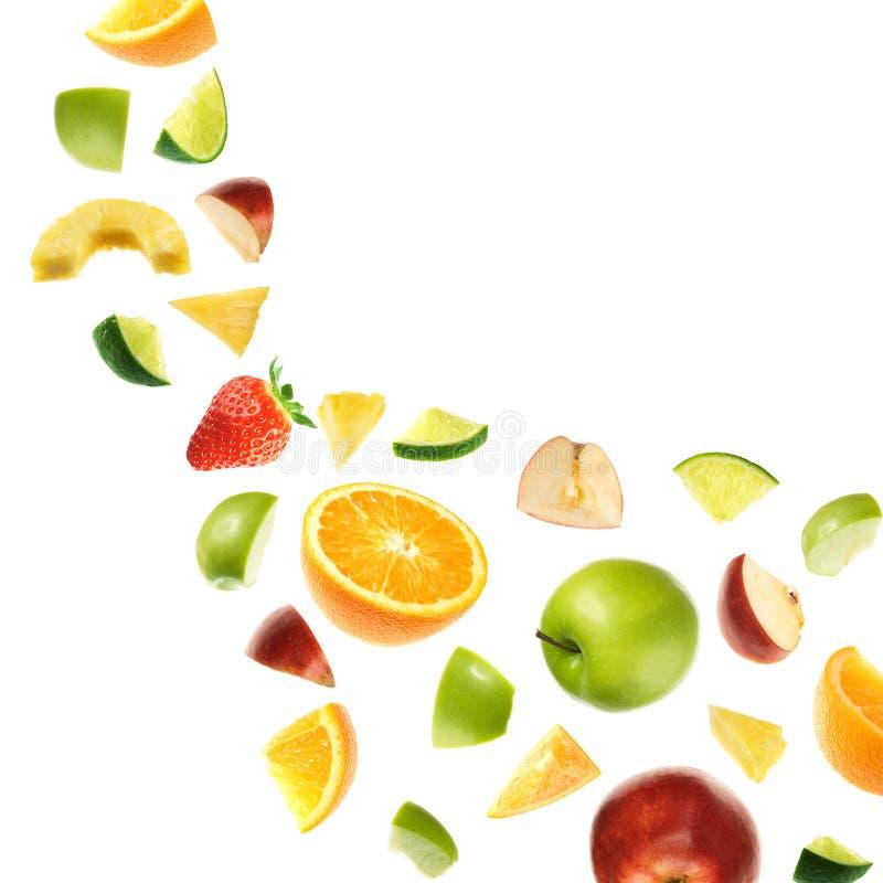 Frutas que caen fotos de archivo libres de regalías