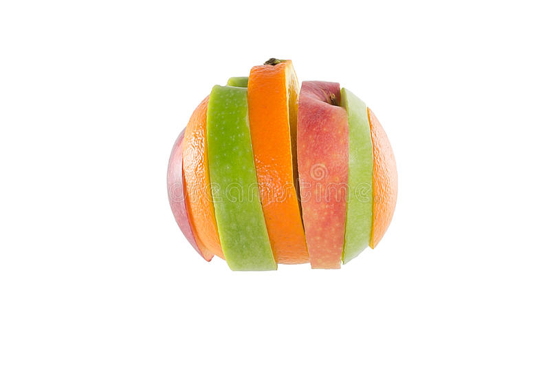 Frutas rebanadas mezcladas imagen de archivo
