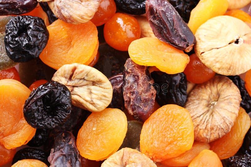 Frutas secadas cerca para arriba fotos de archivo libres de regalías