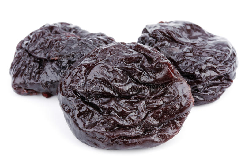 Frutas secadas da ameixa imagens de stock royalty free
