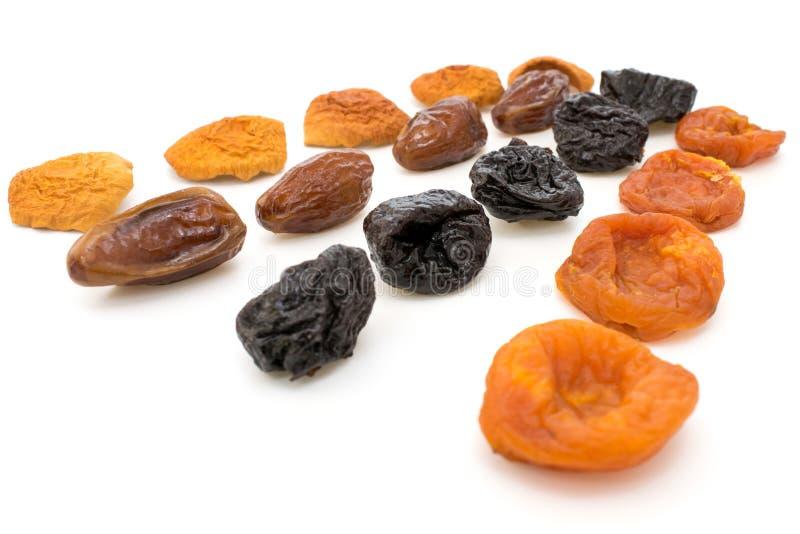 Frutas secadas, manzanas, ciruelos, albaricoques, higos imagen de archivo libre de regalías