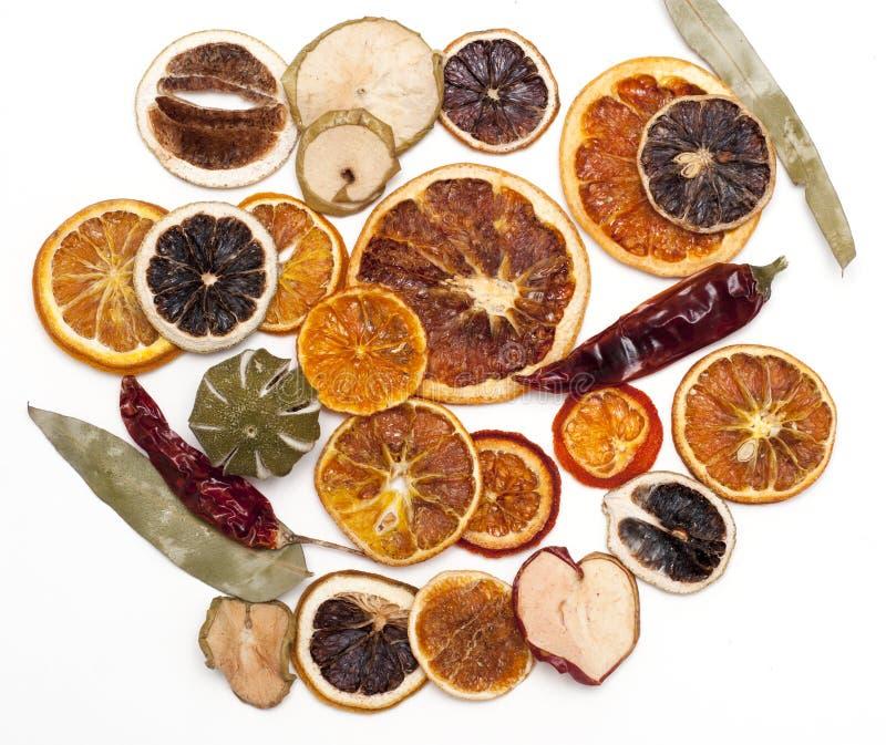 Frutas secadas, para la decoración del invierno foto de archivo libre de regalías