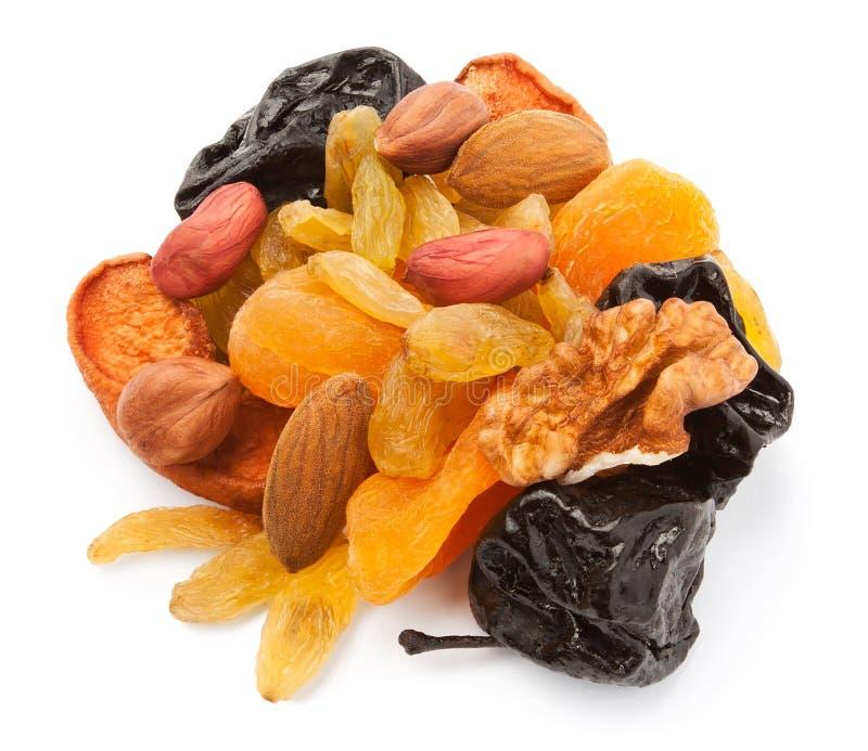 Frutas secas misturadas imagem de stock royalty free