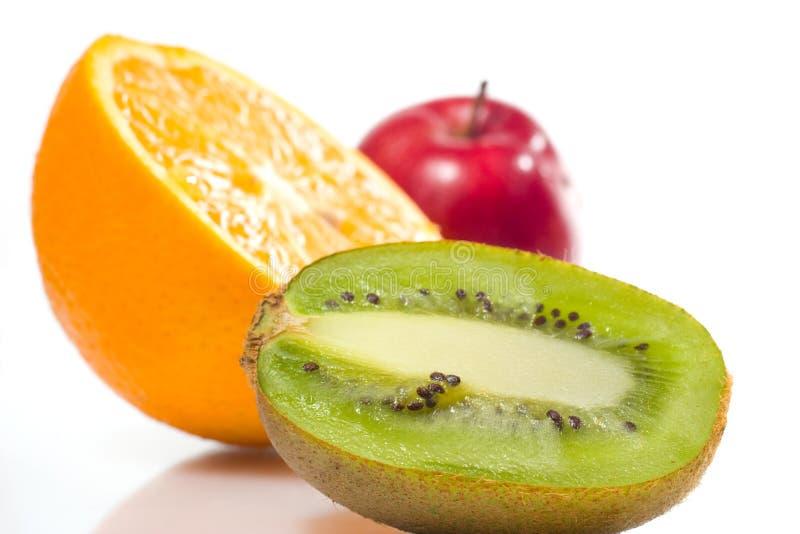 Frutas suculentas sobre o branco foto de stock