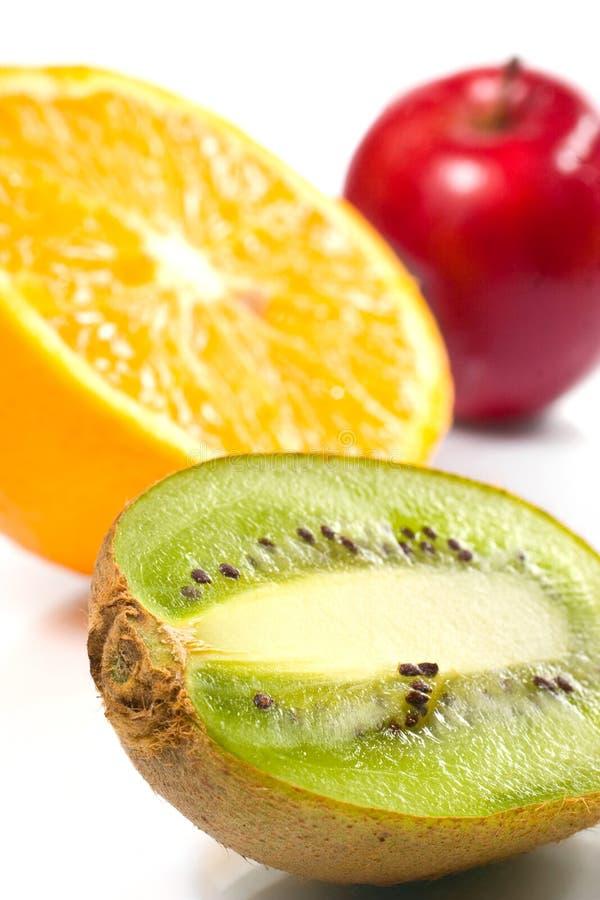 Frutas suculentas sobre o branco fotos de stock