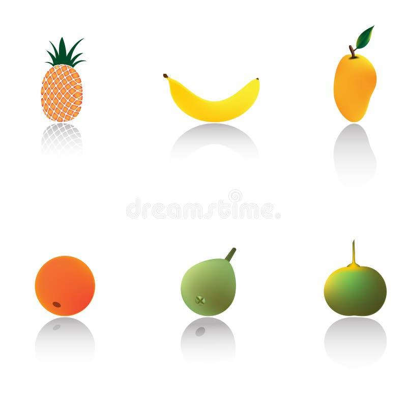 Frutas tropicais ilustração royalty free