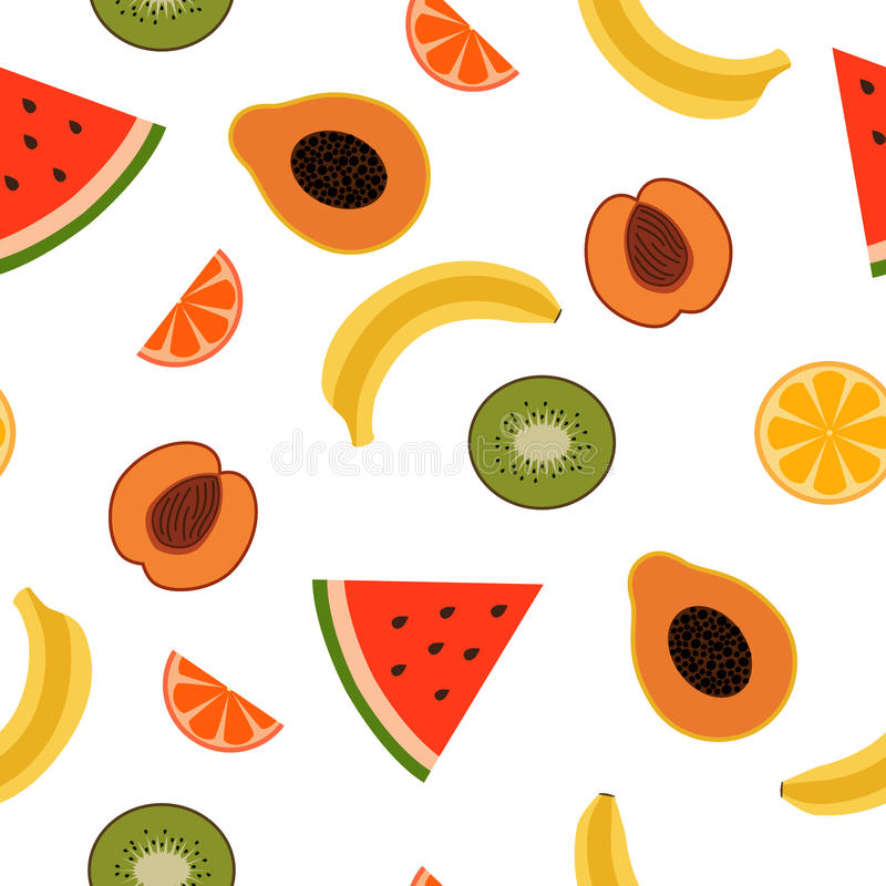 Frutas tropicales ilustración del vector