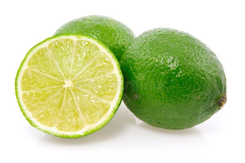Frutas verdes frescas do limão. imagens de stock royalty free