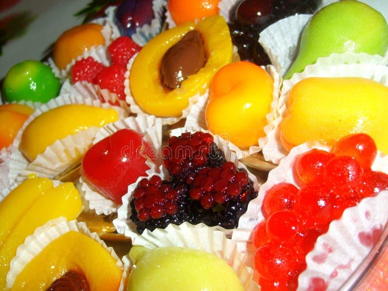 Frutas y bayas gomosas fotografía de archivo libre de regalías