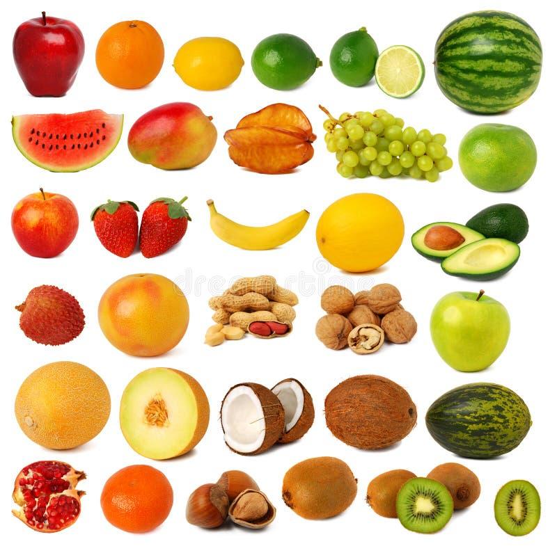 Frutas y colección nuts imágenes de archivo libres de regalías