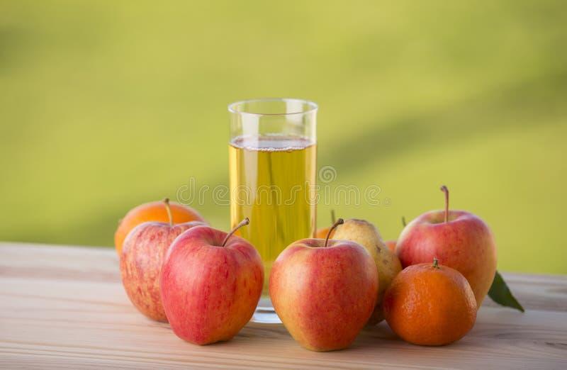 Frutas y jugo foto de archivo