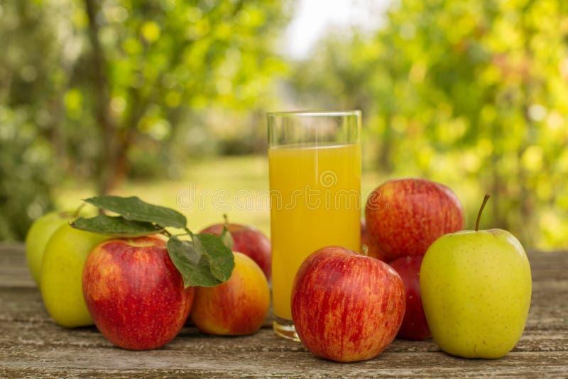 Frutas y jugo imagenes de archivo