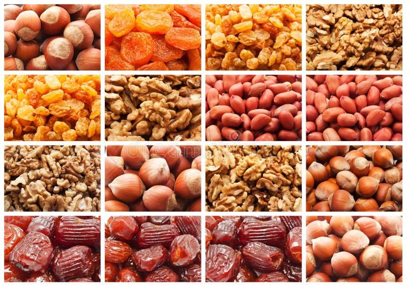 Frutas y nueces secadas imagenes de archivo