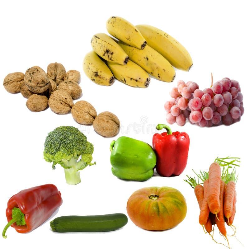 Frutas y verdura aisladas fotos de archivo libres de regalías
