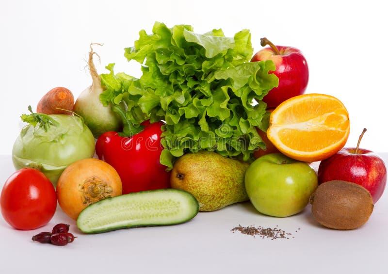 Frutas y verdura aisladas imágenes de archivo libres de regalías