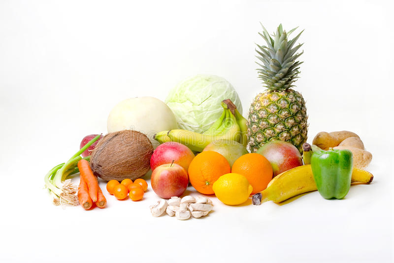 Frutas y verdura tropicales fotos de archivo libres de regalías