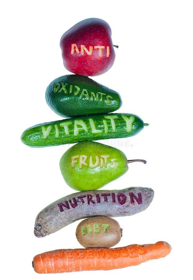 Frutas y verduras de los antioxidantes imagen de archivo