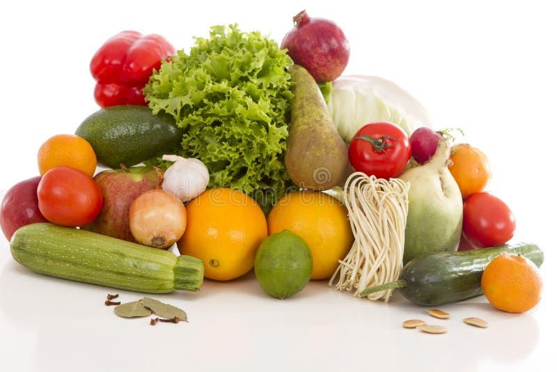 Frutas y verduras diabéticas del desayuno foto de archivo libre de regalías