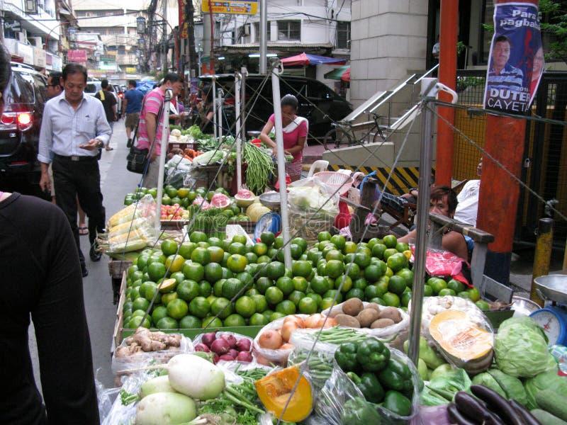 Frutas y verduras frescas, Chinatown, Binondo, Manila fotos de archivo