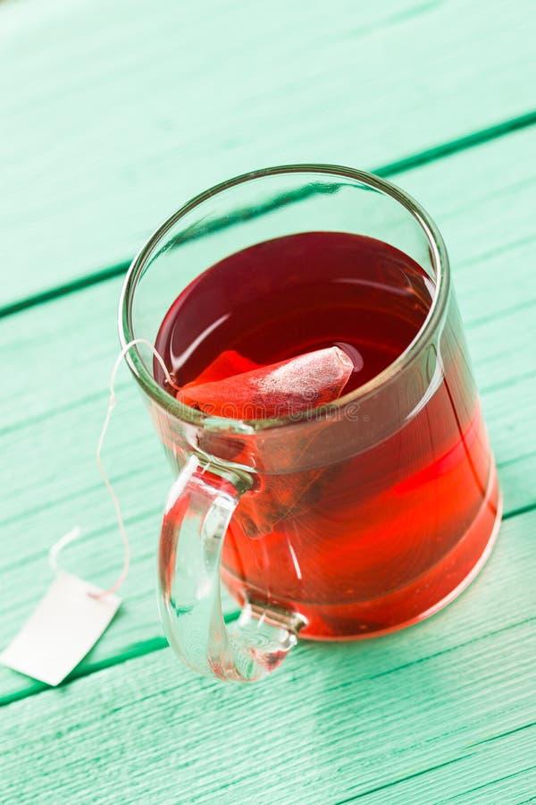 Frutifica o chá vermelho fotografia de stock