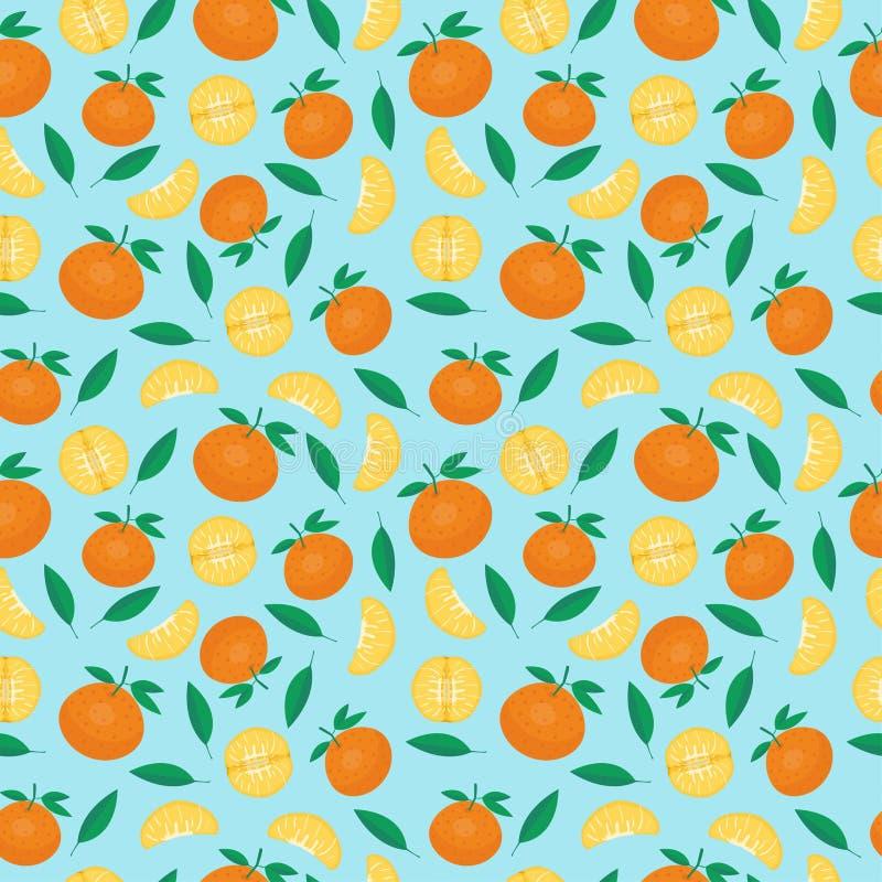 Frutificam os testes padrões sem emenda do mandarino imagens de stock royalty free