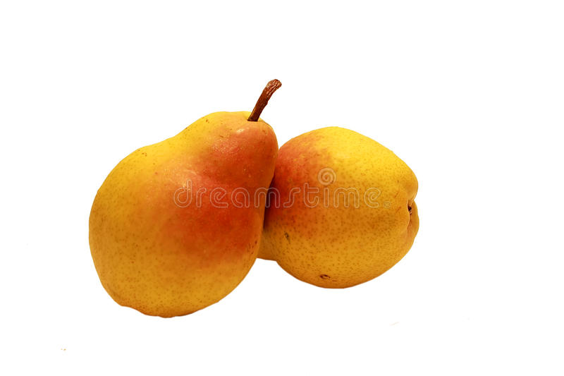 Fruto amarelo vermelho da pera imagens de stock royalty free