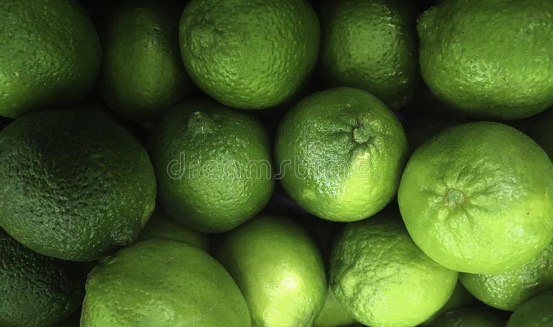 Fruto, cais sem sementes persas, aka cal de Tahiti, fotografia de stock royalty free