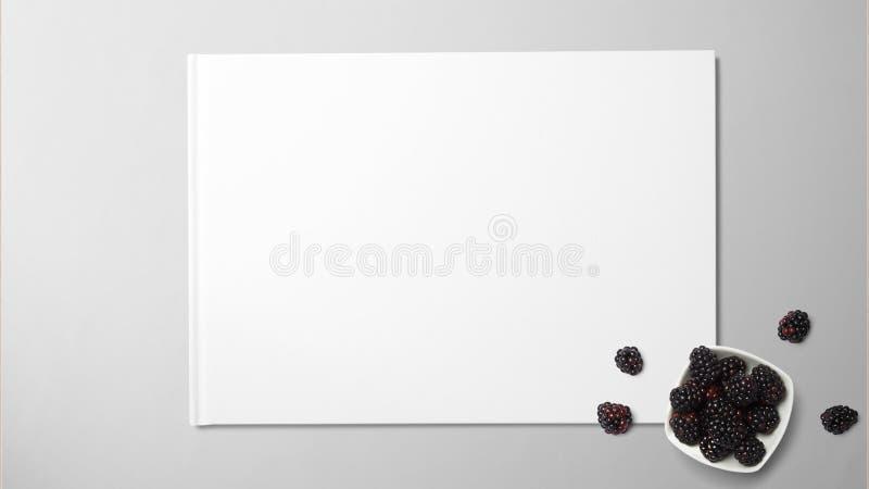 Fruto da amoreira no Livro Branco no fundo isolado imagens de stock
