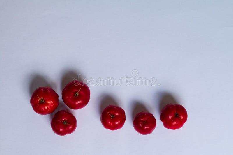 Fruto da cereja do Acerola fotos de stock