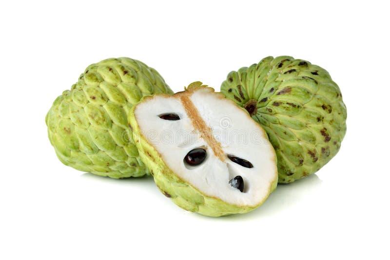 Fruto da maçã de creme no branco fotografia de stock