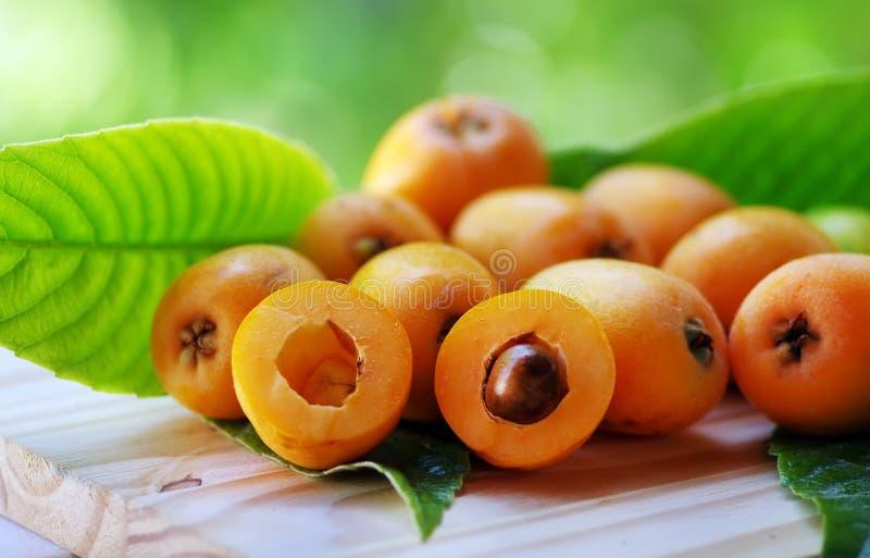 Fruto da nêspera do Loquat mim imagem de stock