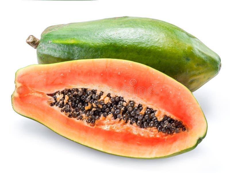 Fruto da papaia isolado em um fundo branco foto de stock royalty free