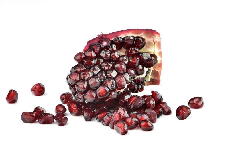 Fruto da romã isolado no branco fotografia de stock royalty free