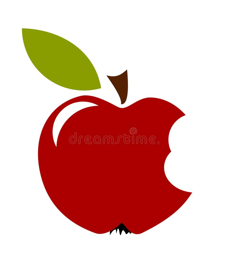 Fruto de Biten Apple ilustração stock