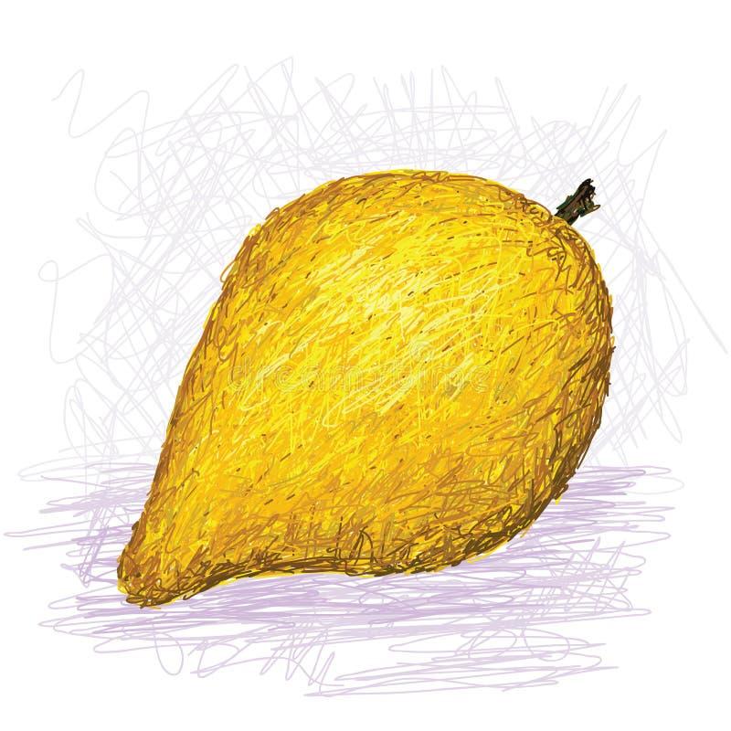 Fruto de Canistel, eggfruit ilustração stock