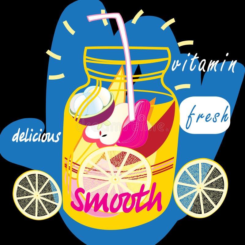 Fruto delicioso liso ilustração royalty free
