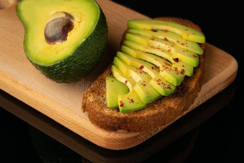 Fruto do brinde do abacate e de abacate da metade imagem de stock royalty free