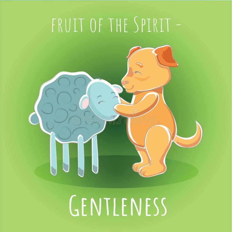 Fruto do espírito - delicadeza - docilidade ilustração stock