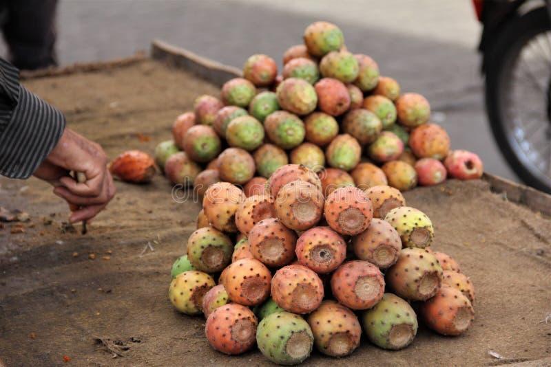 Fruto do ficus do Opuntia imagem de stock