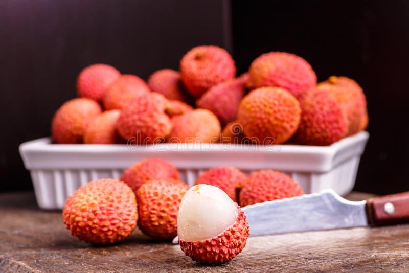 Fruto do lichi, que é chamado ameixa de Chinês imagens de stock