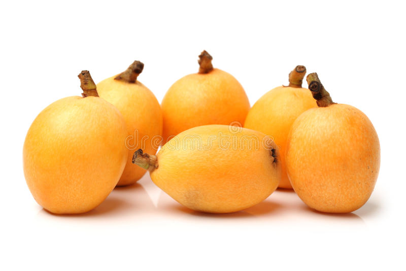 Fruto do Loquat fotografia de stock