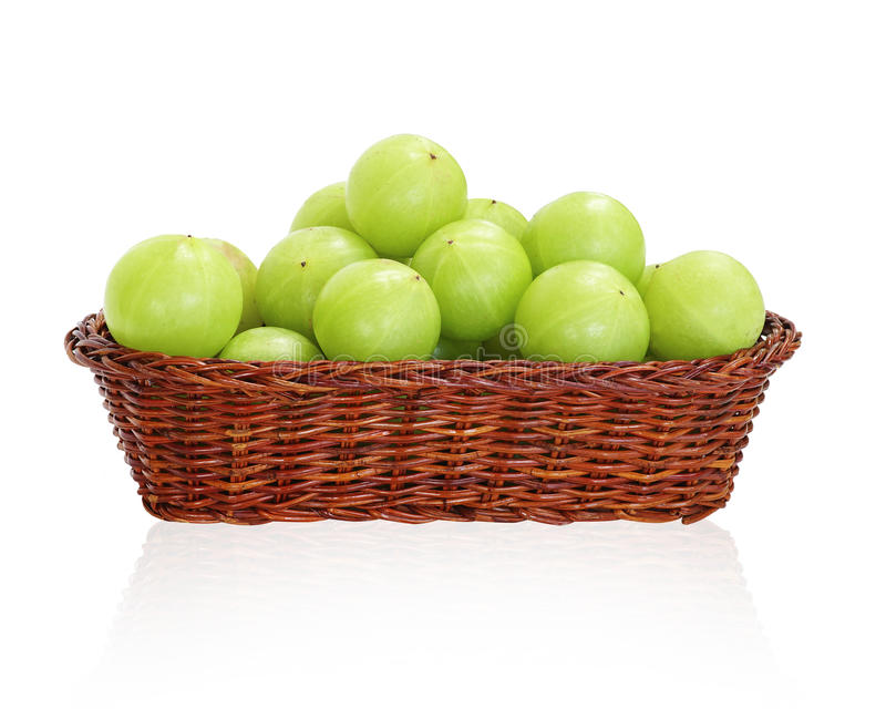 Fruto do verde de Amla, groselha ndian imagem de stock