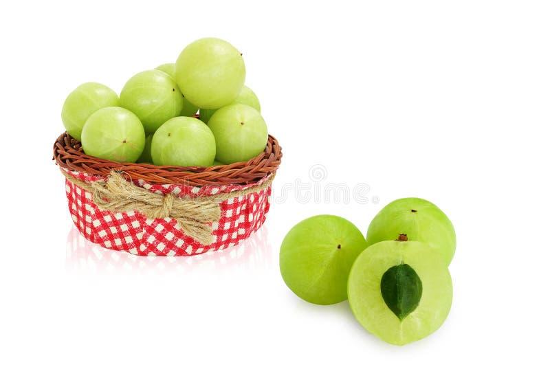 Fruto do verde de Amla, groselha ndian imagens de stock royalty free