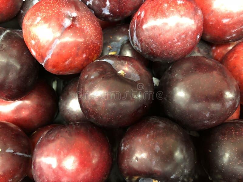 Fruto fresco das ameixas fotografia de stock