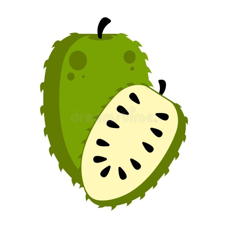 Fruto isolado do soursop ilustração stock