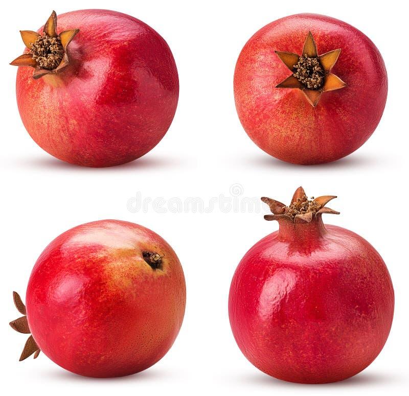 Fruto maduro da romã da coleção fotografia de stock royalty free