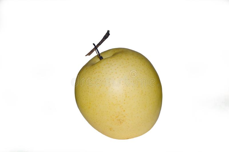 Fruto redondo asiático da pera isolado no fundo branco foto de stock royalty free