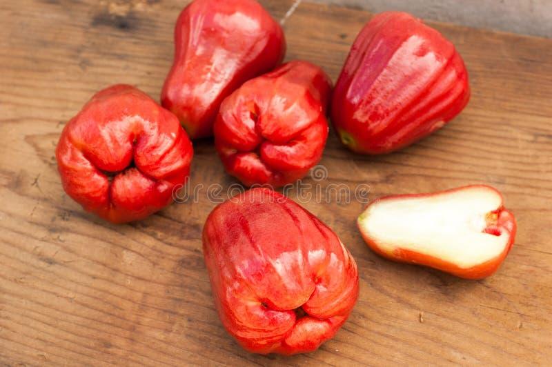 Fruto vermelho maduro fresco do caju imagem de stock