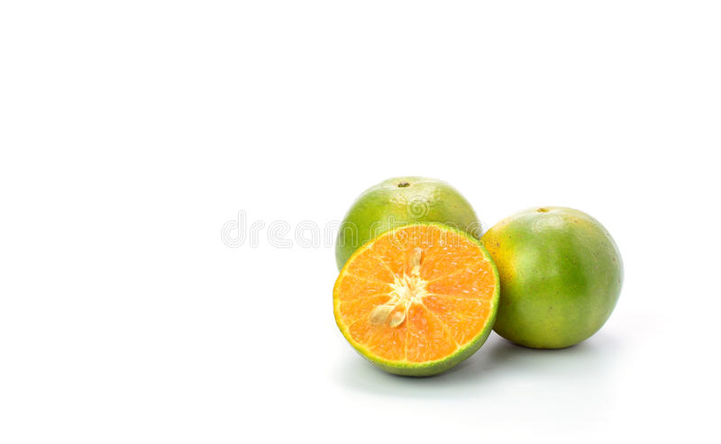 Frutos alaranjados isolados sobre o fundo branco fotos de stock royalty free